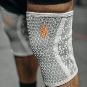 White Mesh Overlay Neoprene Knee Sleeves
