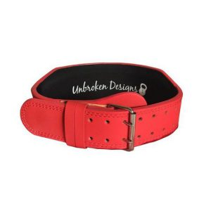"Matte-Red-4""-leather-weightlifting-belt"