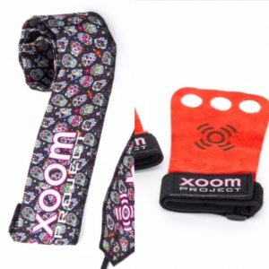 Mexican Skull-wrist-wrap-gymnasticgrip-red