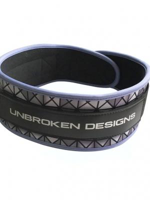 Silver Tron Velcro weightlifting belt