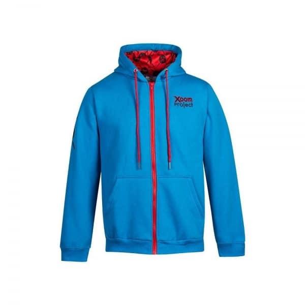 hoodie-skull-logo-zip-blue-hetwodwinkeltje.nl