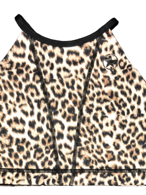 Leopard Web Black Savage Sport Bra