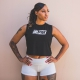 GIRLPOWER-Black-Savage-Barbell-Cut-Off-Tee