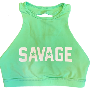 Sea-Foam-High-Neck-Savage-Sports-Bra
