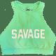 Sea-Foam-High-Neck-Savage-Sports-Bra