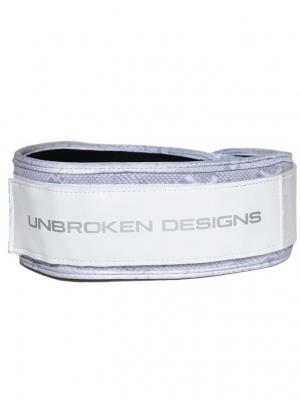 White Snake Velcro Weightlifting belt