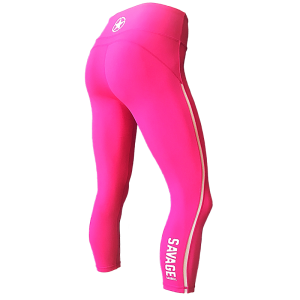 Raspberry-Mesh-Savage-Barbell-7/8-Legging