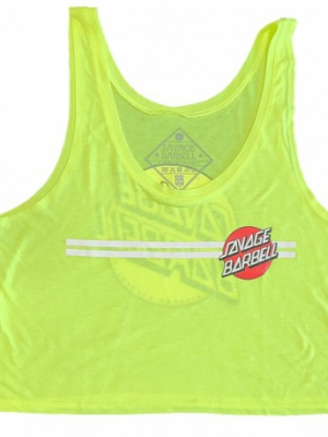 Retro Glow Stick Crop Top Savage Barbell