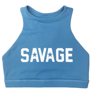 Blue-steel-high-neck-sports-bra-savage-Barbell-hetwodwinkeltje.nl