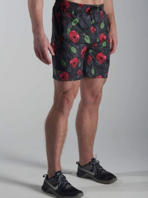 Death By Cherry Endurance Shorts Feed Me Fight Me