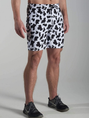 Cow Moo Flage Endurance Shorts Feed Me Fight Me